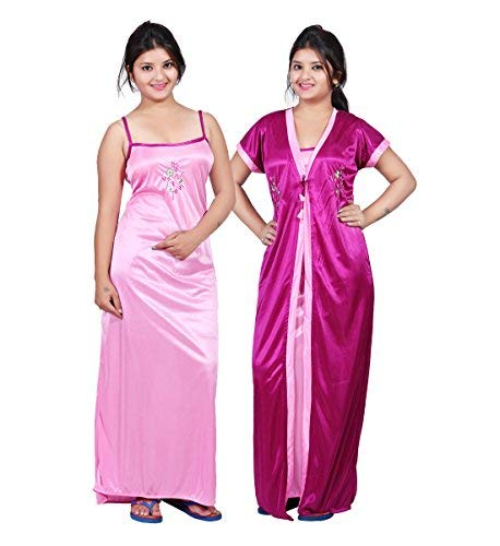 dda39133bb Bailey Women s Satin Night Dress(Pink