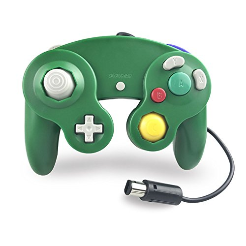 Crifeir The Wired Controller for Gamecube NGC Wii Video Game (Green)