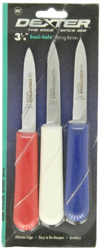Sani-Safe S104-3RWC S104 Cooks Style Paring Knife with Polypropylene Handle by Sani-Safe