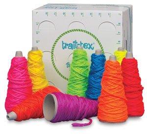 - Trait-tex Mini Neon Yarn Dispenser Box, 9 Cones