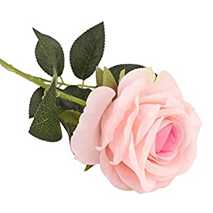Elevin(TM) Rose Artificial Flower Latex Real Touch Bridal Wedding Bouquet Home Decor 10