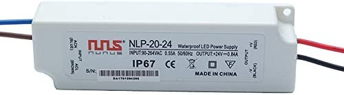 NuNus Transformador Electrico para Luz LED 24V 20W IP67 LPV-20-24