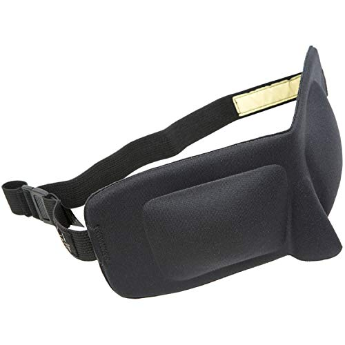 GEAR AID Sleep Mask for Deep REM Sleep for Travel and Outdoors, Black