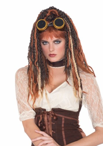 Forum Novelties Men's Steampunk Havoc Dreads Wig Adult Costume Accessory, Multicolor, One Size -