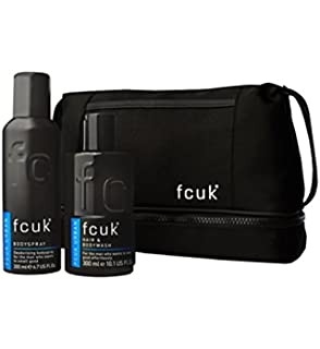 985cacd9d10 Fcuk Urban Grooming Wash Bag Gift Set Urban Hair & Body Wash & Body Spray