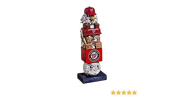 Rico Industries Washington Nationals Tiki Totem Pole 16 Home Outdoor Garden Statue Decoration Baseball Inc