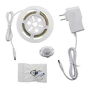 RUICHEN(TM) LED Digital Bed-lighting Motion Sensor Light Strips Kit with UL Power Supply ,Timer for Bed, Hallways, Stairs,Under Cabinet,Bedroom,Doorway (1 pack)