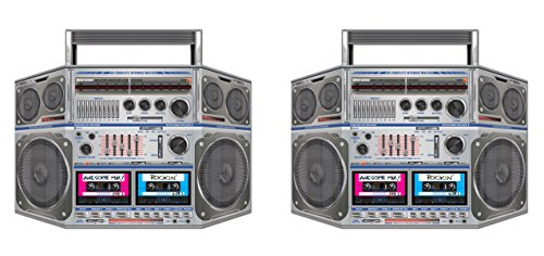 Beistle S57851AZ2 Boom Box Stand-Up, Multicolored