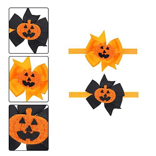 Cosanter Fasce Capelli Bambino Halloween 2PCS Cerchietto per Capelli Zucca Bowknot Accessori