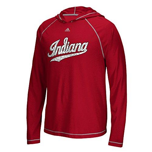 adidas NCAA Indiana Hoosiers Mens Line Shine Ultimate L/S Hoodline Shine Ultimate L/S Hood, Victory Red, X-Large