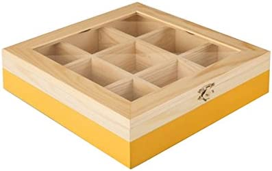 IBILI - Caja DE TE 9 Compartimentos Amarillo: Amazon.es: Hogar