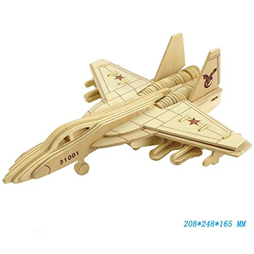Best Quality - Wooden Blocks - Military Series 3D Wooden Blocks Toy Weapon Aircraft Fighter Building Block Learning Decorative Toys for Children Adult Gift - by Viet SF - 1 Pcs