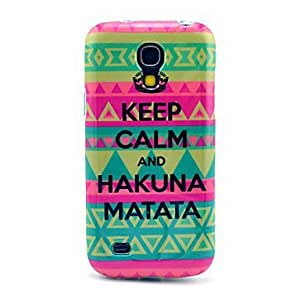 LZX Keep Calm and Hakuna Matata Carpet Pattern TPU Soft Back Cover Case for Samsung Galaxy S4 Mini I9190
