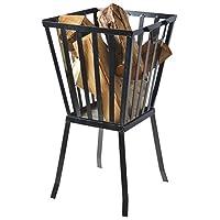 Feuerkorb schwarz XXL Fire Basket ✔ eckig