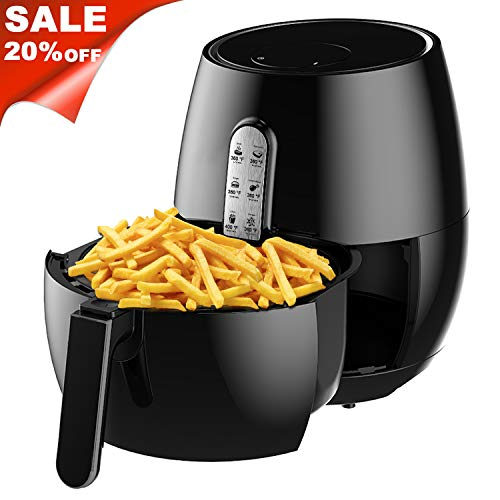 Air Fryer, SincaLong Oven Oilless Cooker with 7 Cooking Presets, Large Capacity 5.7Qt Electric Air Fryer with LED Digital Touchscreen