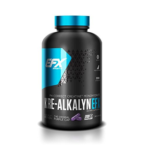 EFX Kre-Alkalyn | PH Correct Creatine Monohydrate | Patented Formula, Gain Strength, Build Muscle & Enhance Performance - 240 Capsules / 120 Servings