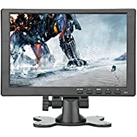Lancevon- 10.1 inch HDMI VGA HD LCD Monitor display screen ; good use for raspberry pi 3 monitor - IPS 1280x800 Video Audio inputs -Build in speaker