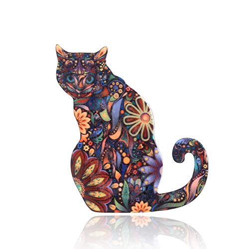 - Chili Jewelry Individuality Animals Acrylic Cat Brooch Pin Colorful Unisex Costume Decorations Brooches Jewelry