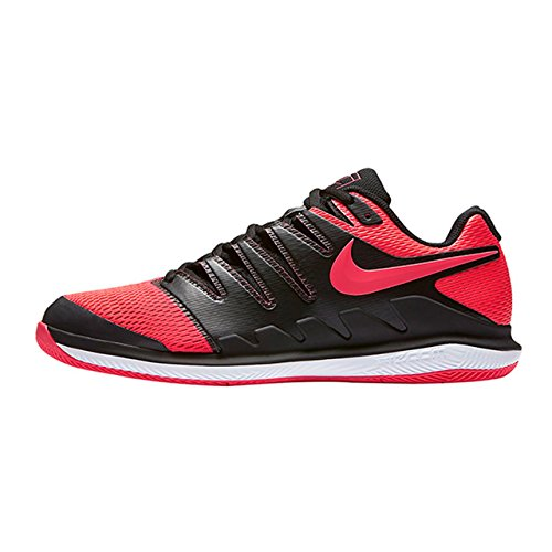 Nike Men's Zoom Vapor X Tennis Shoes (11.5 D(M) US, Black/Solar Red/White) ()