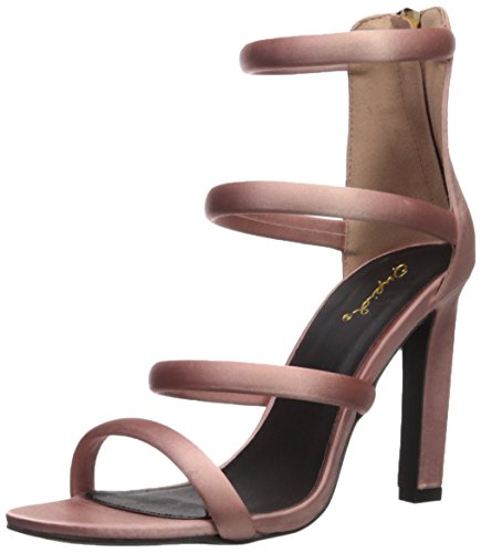 Qupid Women's Hurst-16 Heeled Sandal, Mauve, 7.5 M US (Pink Shoes Heels Sandals)