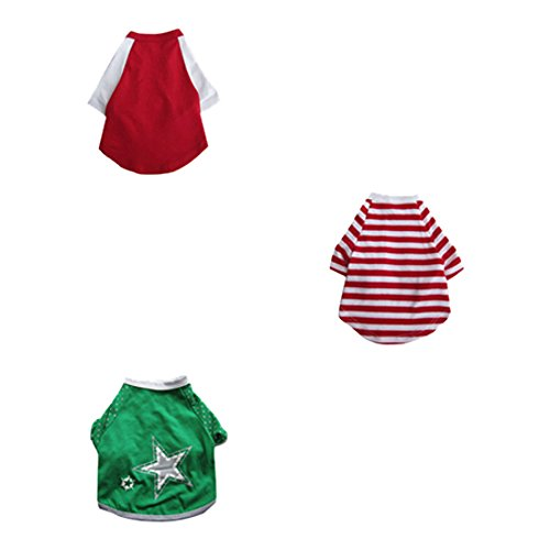 XX Small 7\ Iconic Pet 3 Pack Pretty Pet Apparel with Sleeves-XX-Small