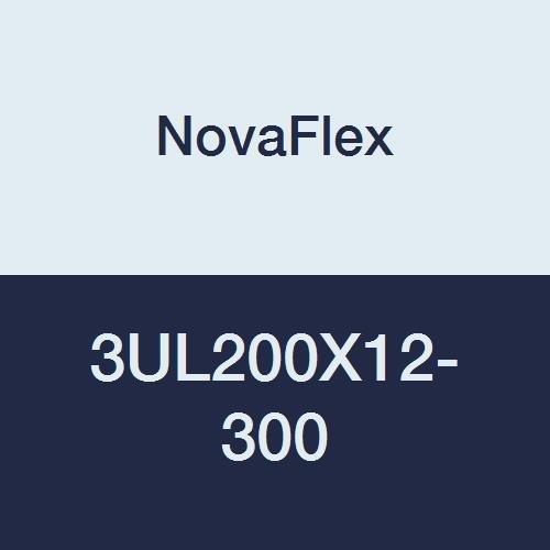 12 x 25 Novaflex 3UL200X12-300 U-Lok 200 Neoprene Coated Polyester Fabric//Heavy Gauge//Single Ply Medium Duty Air and Dust Control Duct UL94V-O