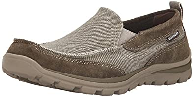 Amazon.com | Skechers USA Men's Relaxed Fit Memory Foam Superior ...