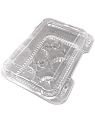 Clear 6 Compartment Muffin Cupcake Container Box Lid 10pack