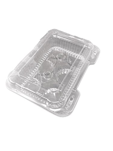 Clear 6 Compartment Muffin Cupcake Container Box Lid 10pack ()