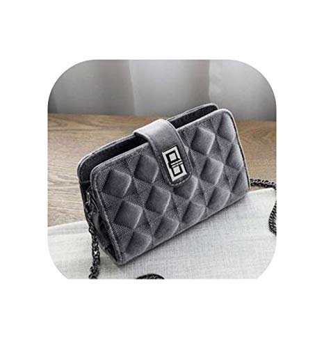 Shoulder Crossbody Bags For Women Leather Velvet Handbags Women Bags Ladies Messenger Bags,Gray