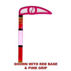Pink Blade - Colored Metallic Children Kama - Karate Taekwondo (Black Base & Grip)