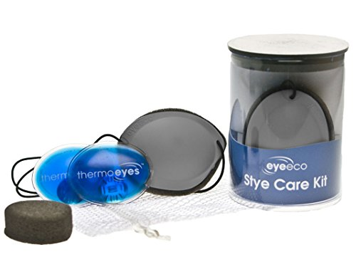 Eye Eco's Stye Care Kit for Chalazia and Stye Relief (Black, Right Eye)
