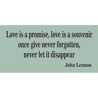 Love Is a Promise John Lennon Beatles Sticker Wall Decal Nursery Baby Boy Girl Teen Room Office