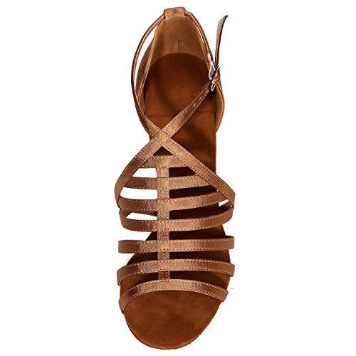 Jazz Ballo Elobaby Toe Platform Scarpe 7 42 34 Red Strap 5cm da Cross Donna Silk da Buckle Heel qq0H8AwEa