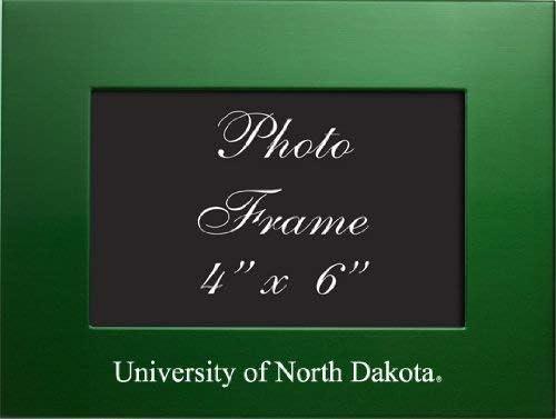 4x6 Brushed Metal Picture Frame Green University of North Dakota