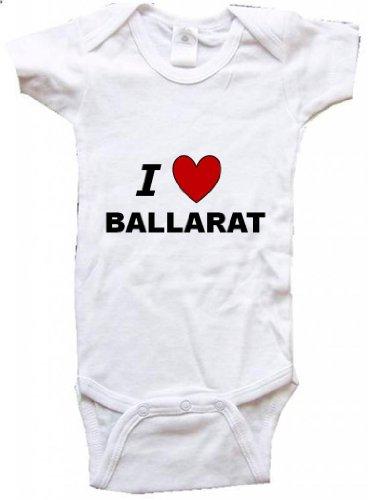 I LOVE BALLARAT - BALLARAT BABY - City Series - White Baby One Piece Bodysuit - size Small - Ballarat Kids