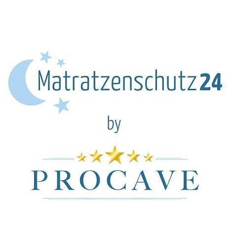 Matratzenschutz ohne Knistern Made in Germany wei/ß atmungsaktive Matratzenauflage PROCAVE wasserdichter Matratzenschoner Babybett 60 x 120 cm