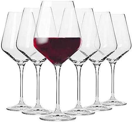 Mosako - Juego de 6 copas de vino de borgoña para vino tinto altamente funcionales, color rojo