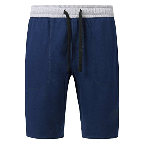 Mrignt Men's Casual Cotton Elastic Gym Shorts(Dark - Casual Cotton Short