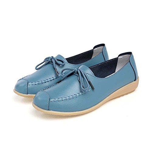 Slip-sur les femmes antidérapants Chaussures plates bout rond Casual KPEfgOul