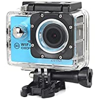 ESCENERY New Full HD 1080P WIFI H16 Action Sports Camera Camcorder Waterproof 32G Memory Card+1200 Million High-Definition Wide-Angle Lens (Blue)