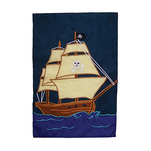 In the Breeze Pirate Ship House Banner