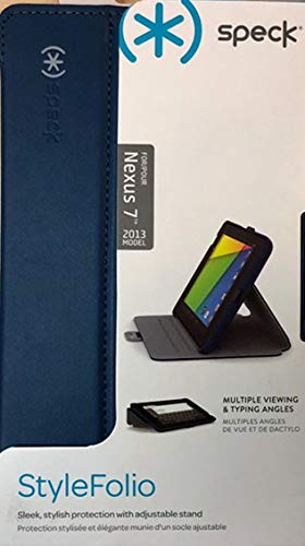 Speck Products Stylefolio Case and Stand for Google Nexus 7 Tablet, Deep Sea Blue/Nickel Grey