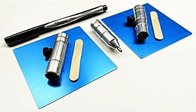 "Bundle, 5 Items : The Etching Tool + Set of 2 Anodized Aluminum Blanks (3.5"") + Pen Holder + Marker Holder + Pen [CRICUT Explore / Explore Air/Air 2 Models]"