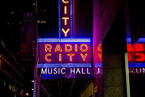 Home Comforts Laminated Poster Radio City Music Hall New York City Manhattan Vivid Imagery Poster Print 11 x 17