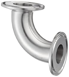 Dixon B2CMP-G100 Stainless Steel 304 Sanitary Fitting, 90 Degree Clamp Elbow, 1\