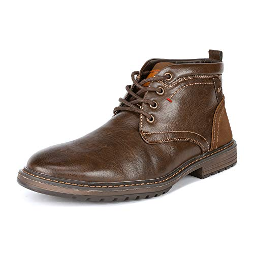- Bruno Marc Men's Philly_12 Brown Dress Combat Motorcycle Oxfords Boots Size 9.5 M US