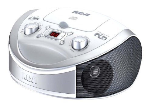 RCA RCD331WH Portable CD Player with AM/FM Radio - White (Boombox Cd Player White)