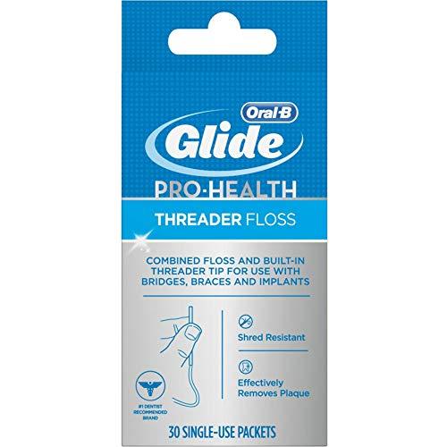 Glide Threader Floss 30 Each (Pack of 6) (Best Floss For Braces)