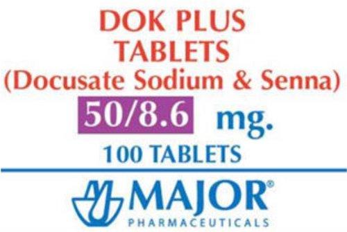 Dok Plus Tablets Stool Softener - 8.6-50MG 100 Tablets